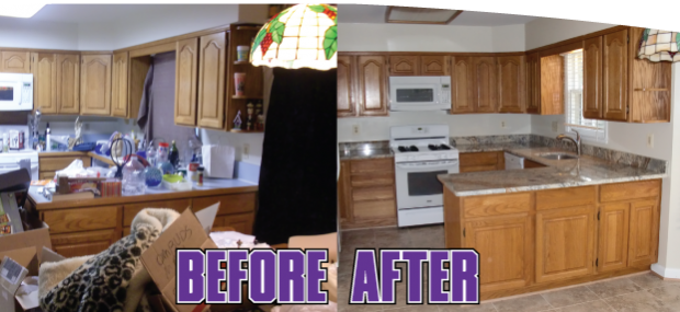 Entrepreneur conquers the clutter for hoarders and elderly for Minimalism before and after
